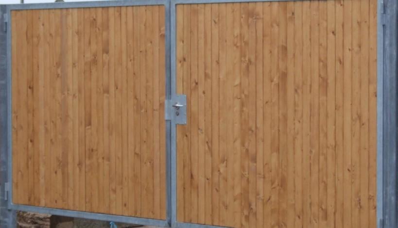 Galvaniseret stålport med Ruko lås
