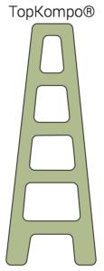 TopKompo Havehegn hegn vedligeholdelsesfrit